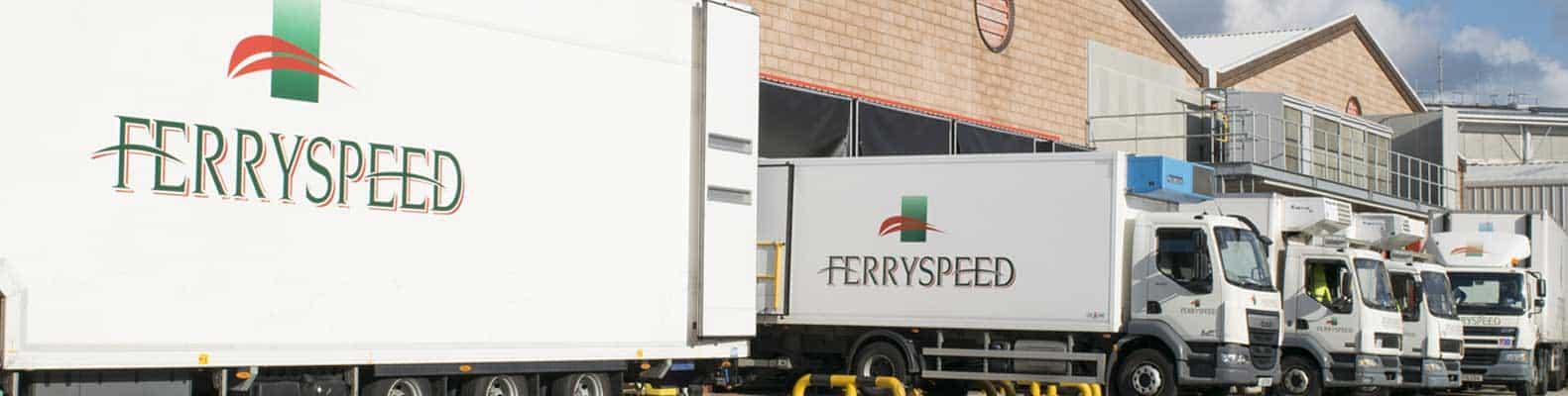 Jersey Freight Services - Ferryspeed trucks at Jersey depot