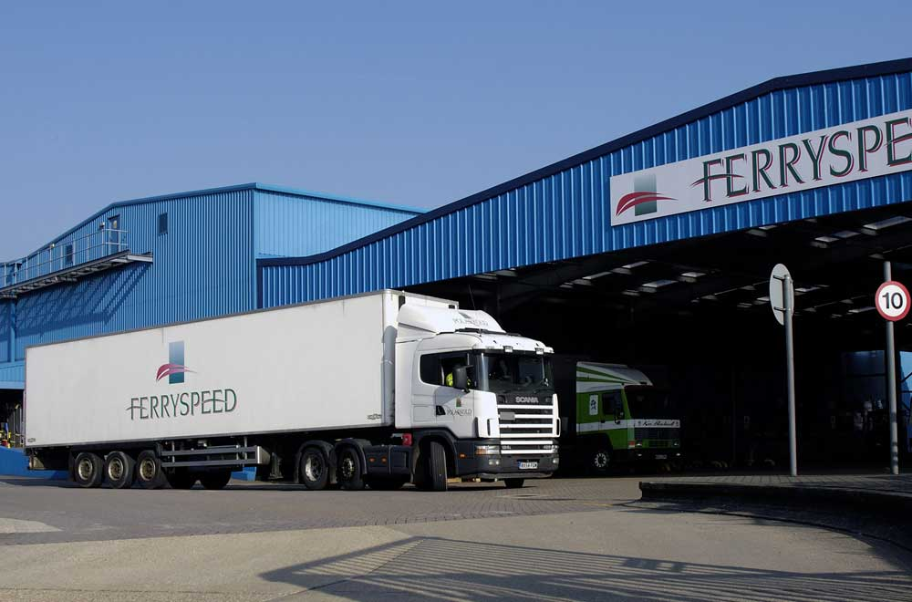 Ferryspeed building and truck