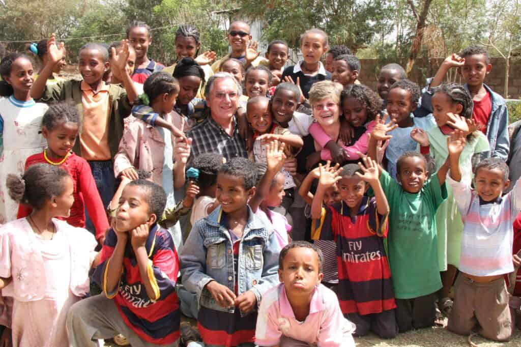 Martyn and Gill Langlois in Ethiopia